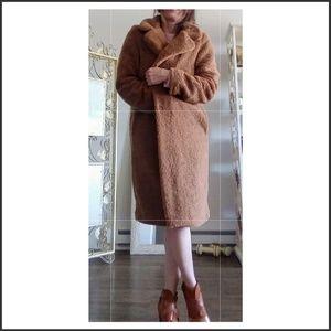 Teddy bear Camel brown coat by Rachel Zoe
